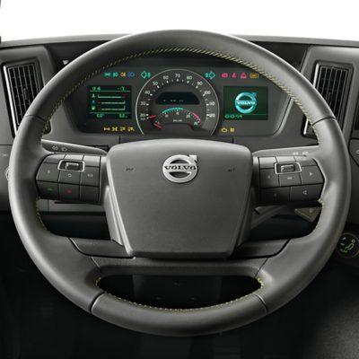 Volvo FMX features dynamic steering wheel studio