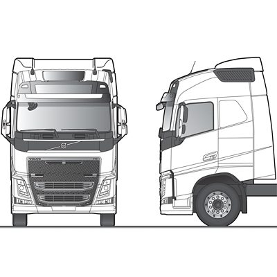 Volvo FH Globetrotter 駕駛室草圖
