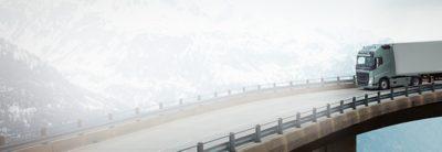 Volvo FH finance on bridge