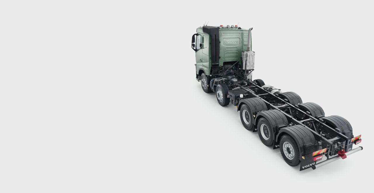 Volvo FH: cinco ejes, 10x2