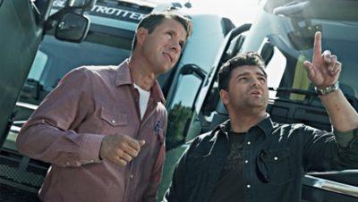 Volvo FH fuel efficiency two men talking