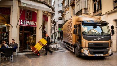Volvo FL fuel efficiency restaurant truck