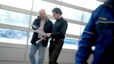 Volvo FL fuel efficiency two men talk