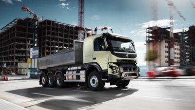 Volvo FMX fuel efficiency construction site