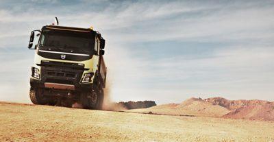 Volvo FMX fuel efficiency sky gravel pit