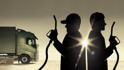 Drivers' Fuel Challenge 2017 symbol with campaign decorative element.