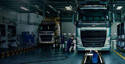 Serviço genuíno Volvo realizado com peças genuínas Volvo