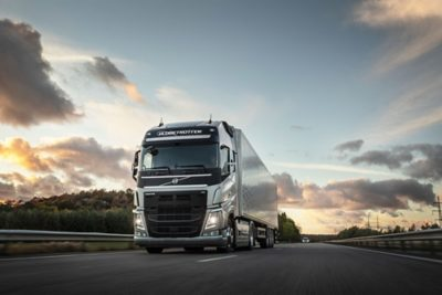 A fully autonomous Volvo FH in operation at Brønnøy limestone mine in Norway