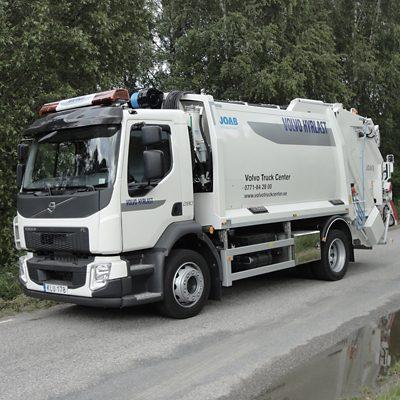 Volvo FLH/FM 4x2 baklastande sopbil med 1-facksaggregat
