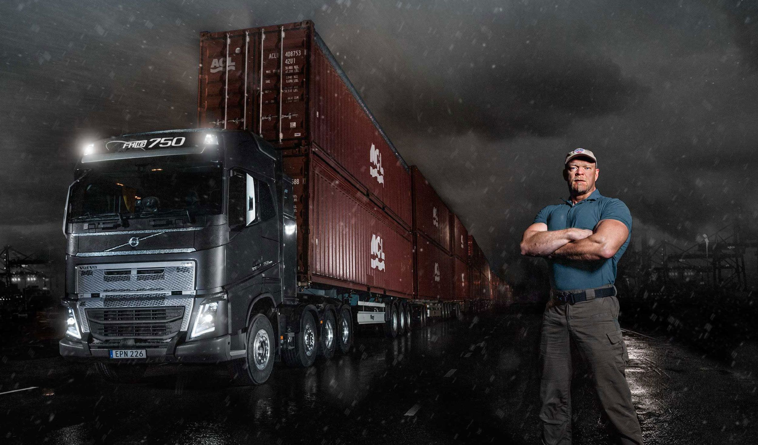 Volvo FH16 and I-Shift with crawler gears pull 750 tonnes