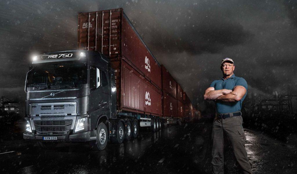 Volvo FH16 spřevodovkou I-Shift splazivými převody utáhne 750 tun