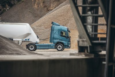 A truck at a worksite