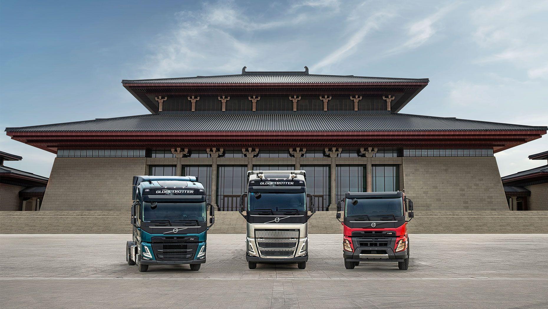 The new heavy-duty Volvo FH, Volvo FM and Volvo FMX trucks