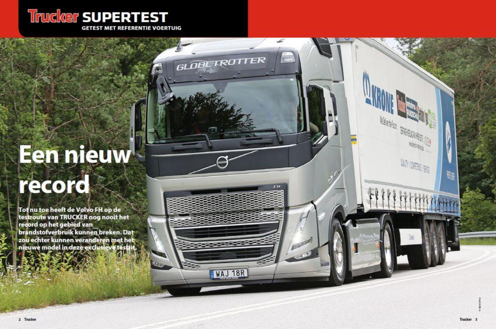 Brandstofrecord op Green Truck Award-testroute voor nieuwe Volvo FH I-Save