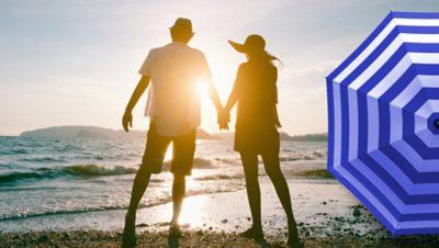 Casal na praia