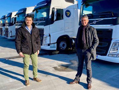Christophe Cruzet et Benoît Amarger gérants des Transports Berthaud