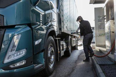 wat is het brandstofverbruik van een LNG-truck