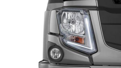 Innovadores faros LED en el Volvo FE