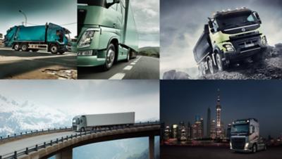 Volvo trucks news image collage