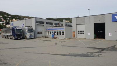 Nordic Last og Buss, avd. Harstad. Foto.