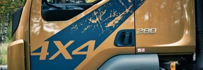 Volvo FL 4x4 可以在任何路況進行運輸作業