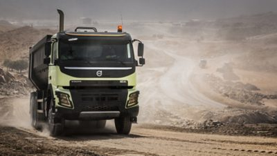 Volvo FMX productivity dirty road
