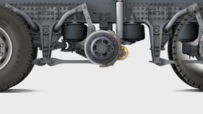 Volvo FMX rear air suspension ground clearence