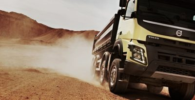 Volvo FMX rear air suspension front dirty road