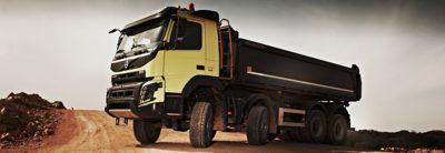 Volvo FMX rear air suspension truck turning