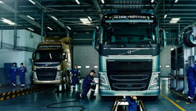 Volvo trucks services servicing contracts gold workshop pit