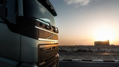 Volvo trucks services servicing contracts silver sun front