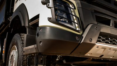 Volvo FMX the front skid plate