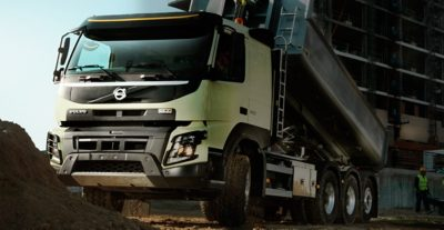 Volvo FMX the front unloading construction