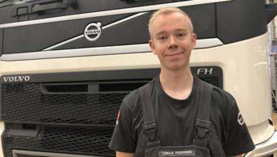 Tobias Maarup Pedersen hos Volvo Truck Center Taastrup