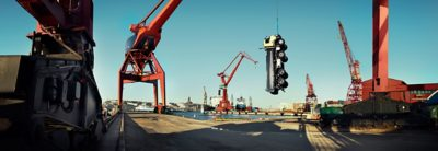 Volvo FMX towing device hanging truck