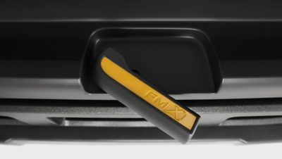 Volvo FMX towing device handle