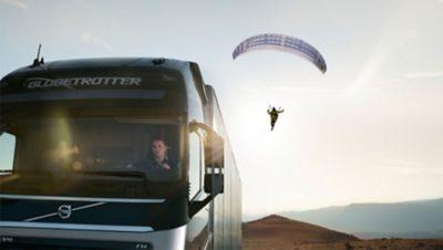 Truck paraglider fuel efficiency Driver Challenge
