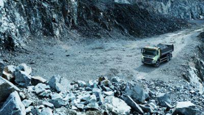 Volvo FMX uptime gravel pit