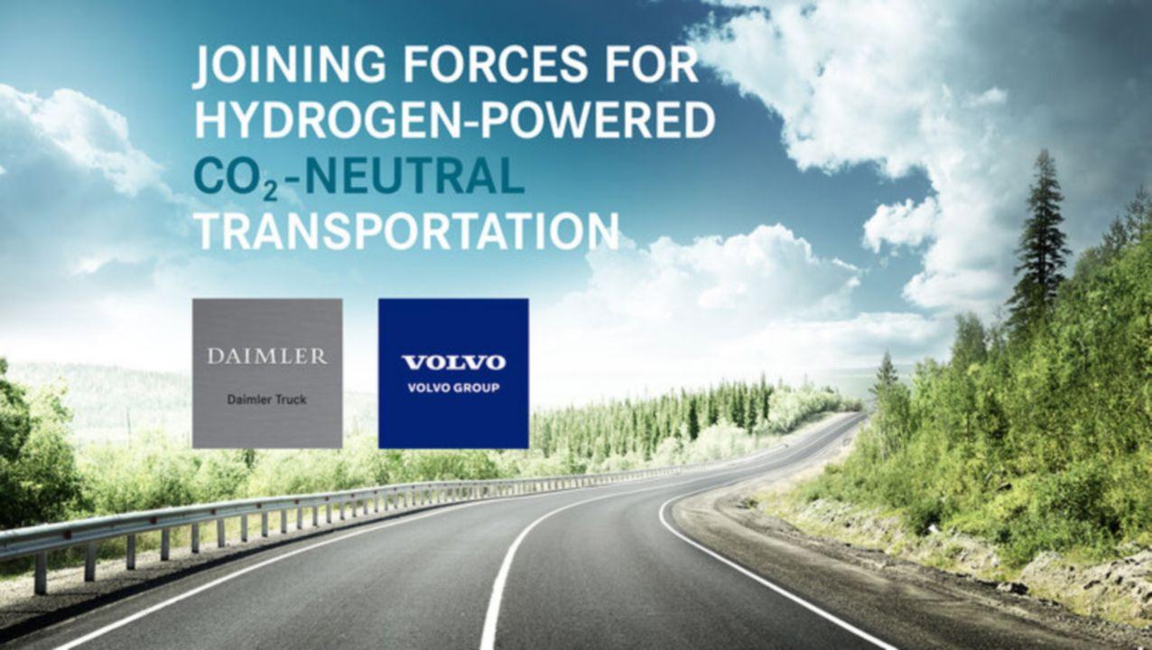 Volvo Group en Daimler in joint-venture voor grootschalige productie van brandstofcellen voor waterstoftrucks