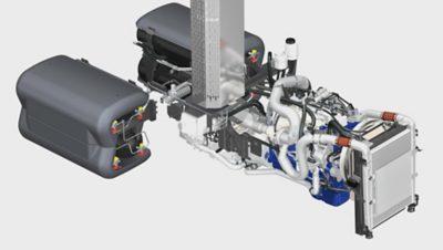 Motor Euro6 pre vozidlo FE CNG