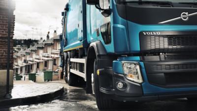 Volvo FE exterior blue truck turning