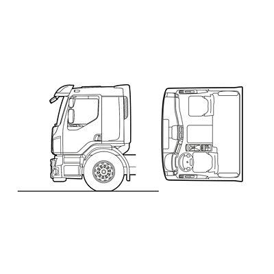 Volvo FE exterior comfort cab sketch