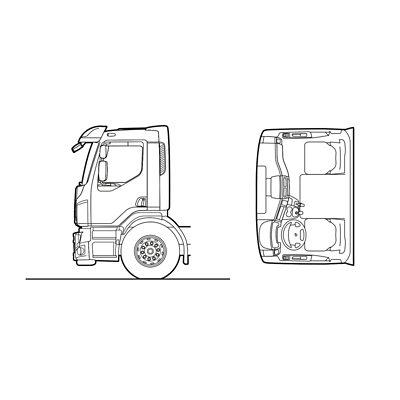 Volvo FE exterior day cab sketch