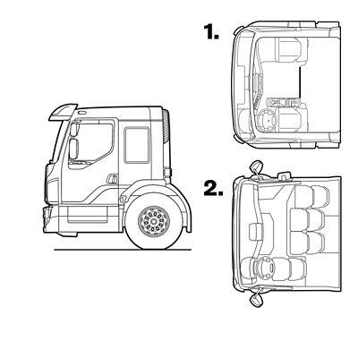 Volvo FE exterior low entry cab sketch