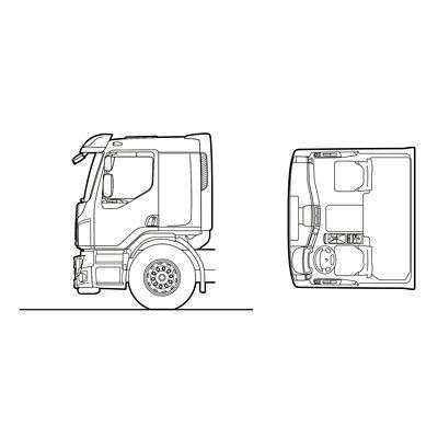 Volvo FE exterior sleeper cab sketch