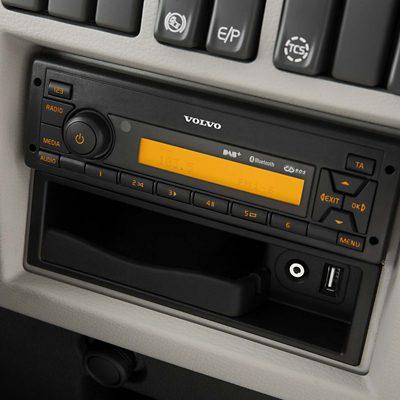 Интериор на Volvo FE – аудиосистема