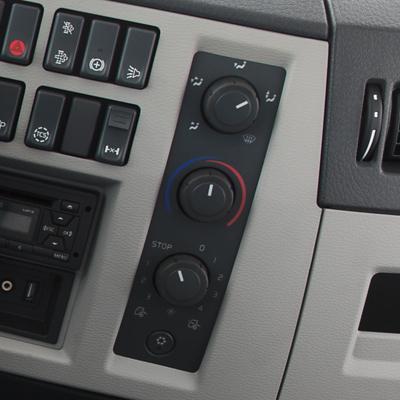 Volvo FE-interiör – klimatanläggning