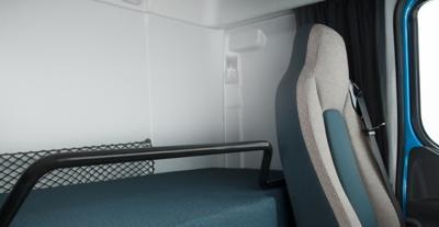Cabina del Volvo FE: comodidad interior, superior en todos los aspectos