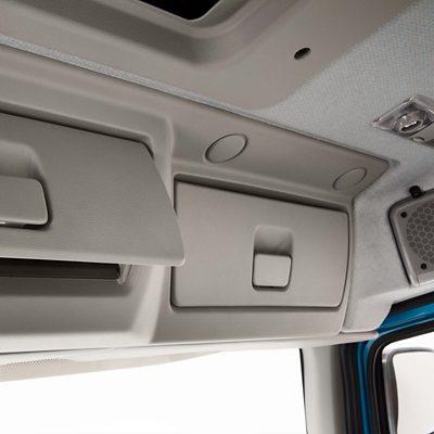 Volvo FE:n sisätilojen säilytysratkaisut