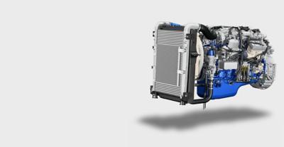 El potente motor del Volvo FE con un sólido par